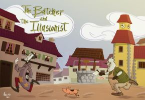 The Butcher and the Illusionist - Panel Test by uRaioU