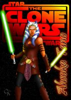 Ahsoka Tano as played by Ashley Eckstein by a-sketchy-business