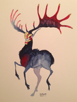 Gehirn in Watercolor by sighthoundlady