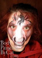 1st horse face paint by Bodypaintingbycatdot
