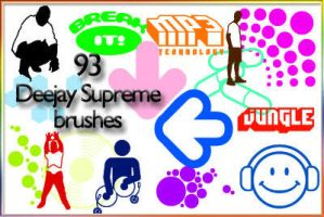 Deejay Supreme brushes by AnastasieLys