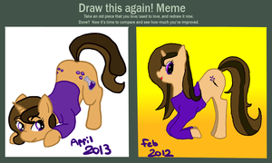 Draw This Again! Start Wearing Purple by the-pink-dragon