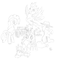 Mane 6 sketch by Gela-G-I-S-Gela