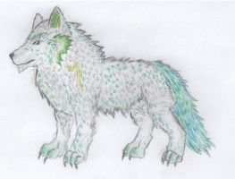 Wolf pencil by Palulukan