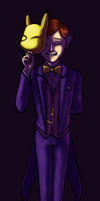 Snazzy Mask Salesman by Astral-Agonoficus