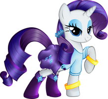 Rarity Equestria Girls casual clothes. by BeamSaber