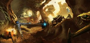 Bug World Surface Environment Design by timegate