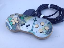 Zelda - Link ot the Past snes controller by Hananas-nl