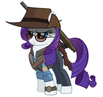 Blue Sniper Rarity Edit by ponyrake