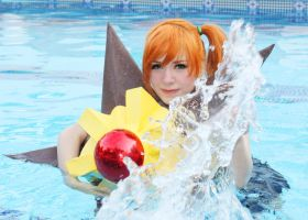 Misty Cosplay Pokemon - Staryu use Hydro Pump!