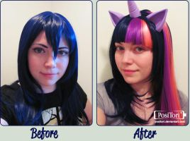 Twilight Sparkle Wig by PosiTori