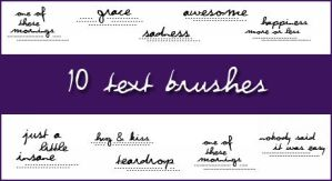 10 text brushes for icons by lilapurple