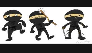 Ninjas by bangalore-monkey