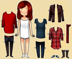 Amy Pond paper doll by ice-cream-skies
