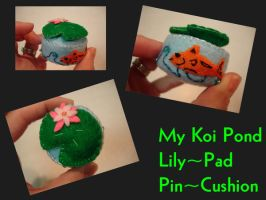 Lily Pad Koi Pond Pin Cushion by pcmommy2b