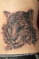 leopard tattoo by graynd