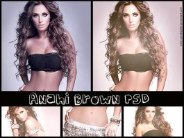 Anahi Brown PSd by perelka880