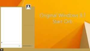 ORIGINAL WINDOWS 8.1 START ORB by GTAGAME