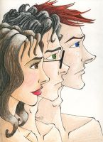 The Trio in Profile by TinyQ
