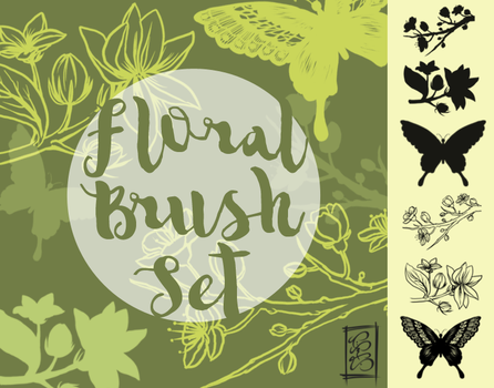 [Stock] Floral Brush Set by dimawari