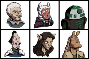 Star Wars RPG Profile Pics by EmeraldBeacon