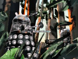 DALEK PAINTBALL by ThrashBarstool
