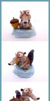 SCRAT - Ice Age - Polymer Clay Sculpture - FANart by buzhandmade