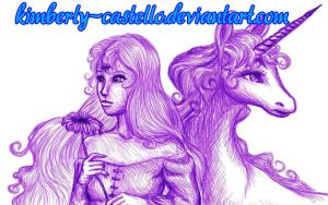 The Last Unicorn Doodle by kimberly-castello