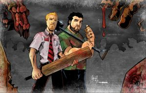 Shaun of the Dead colors by DM by sketchheavy