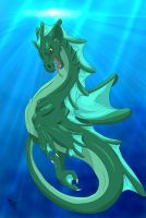 Water Dragon by Spiritwollf