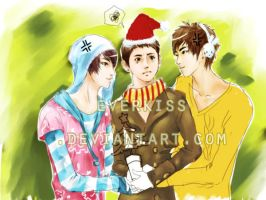 little fight  in Xmas undone by EverKiss
