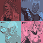 five shades - maximoff twins by sumikooo