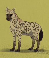 A Spotted Hyena for WilsontheElk by Falcolf