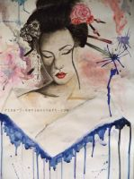 Geisha Abstract by Rina-9