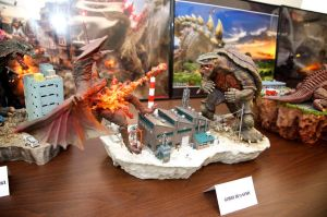 Library Exhibit Gamera VS Gyaos by Legrandzilla