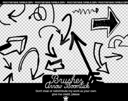 Brushes Arrow Boom by RadioactivColor