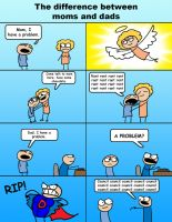 Difference Between Moms and Dads by Swashbookler
