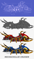EpicDuel Mechachillid Cruisers by charfade