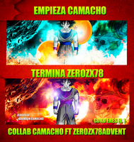 Collab Con  Camacho Ft Zerozx78 Cyan - Red by Zerozx78Advent