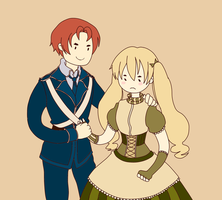 Hetalia: Scotland and fem!England | My lady by Lazorite