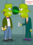 Rigelian Smithers and Burns by FruitBatMan