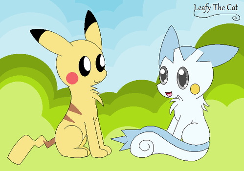 Pikachu and Cotton by LeafyTheCat