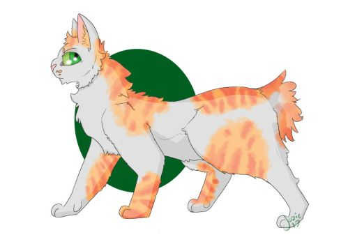 White and Orange Adopt: Open! by InannaSilverfrost