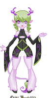 Lavender Wasabi Weird Outfit by Chizeropa