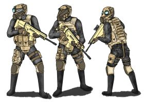 Snout Mask Soldiers by NewSoup