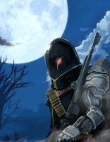 Wolf in the wasteland by doublejoker00