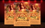 Summer Beach Party Flyer PSD by MatteoGianfreda94