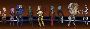 Mass Effect 2 crew by ysucae