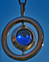 Blue Marble Swivel Pendant by ou8nrtist2
