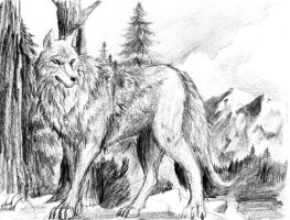 lone wolf by spaceweasel2306